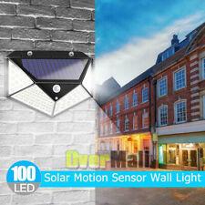 100 LED Solar Power Light PIR Motion Sensor Security Outdoor Garden Wall Lamp US
