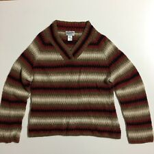 Pendleton Womens XL V-Neck Lightweight 77% Wool Cropped Sweater Pullover