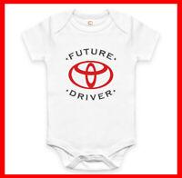RARE NEW FUTURE TOYOTA DRIVER BABY CLOTHES FUNNY BODYSUIT ROMPER. EXPLORE NOW!