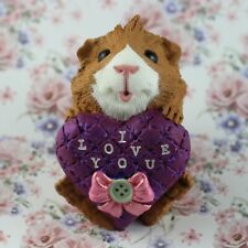 Cute Guinea Pig Figurine - Valentines Day