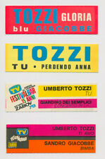UMBERTO TOZZI - 4 rare targhette originali juke box flip Gloria Tu x 2 Ti Amo