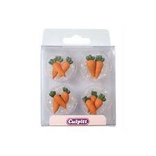 Carrot Edible Royal Icing Toppers x 12 By Culpitt