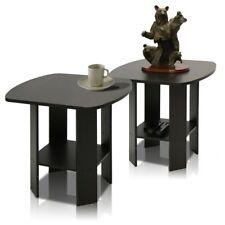 Furinno Simple Design End Table - Set of 2, Espresso
