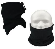 Black Fleece Motorcycle Neck Tube Bike Helmet Warmer Thermal Motorbike Scarf