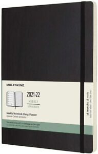 Moleskine Academic Diary 2021/22 18 month Extra Large Weekly Notebook Soft Black