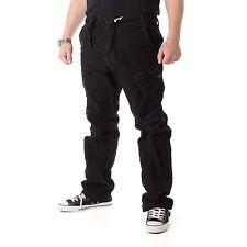 JET LAG fw010 Pantalones hombre pantalón Cargo Loose Fit ,Black, 15536
