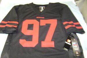 Nick Bosa #97 San Francisco 49ers  Jersey Black YOUTH 14 / 16 LARGE NEW NFL