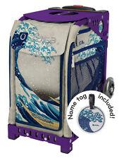 Zuca Bag Great Wave Insert & Purple Frame w/Flashing Wheels - Free Seat Cushion