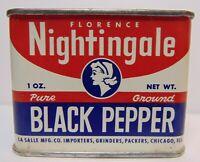 Old Vintage 1950s NIGHTINGALE GRAPHIC TIN LITHO SPICE TIN LASALLE CHICAGO IL USA