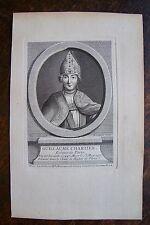 GUILLAUME CHARTIER . EVEQUE DE PARIS .  PORTRAIT, GRAVURE ORIGINALE , 1760