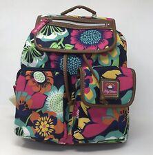 "Lily Bloom Riley Backpack ""Floral Fiesta"" Travel Book Bag 21RPG07LBA-FI NWT"