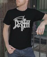 Death Men Black T-Shirt Death Metal Band Tee Shirt Mantas Obituary