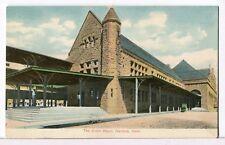 The Union Depot, 1907 - 1915 Hartford Ct Trains Railroads Postcard