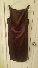 Nicole Miller New York City Brown cocktail dress vintage made in USA size 6