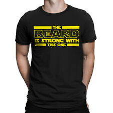 The Beard Is Strong With This One Father's Day Gift   Short Sleeve Men's T-Shirt