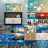 3D Aquarium Background Sticker Fish Tank Backdrop Wallpaper Adhesive Decoration