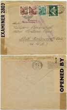 WW2 INTERCEPTED BERMUDA CENSOR 1942 INTERRUPTED 3 MONTHS Missent USA SWITZERLAND