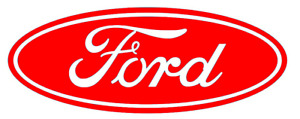 Ford Adhesive Vinyl Oval, Ford Cosworth Oval Badge, Adhesive Vinyl Car Logo,