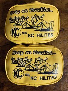 "1 Pair KC HiLites soft light cover Vintage ""Keep on Truckin"" R Crumb"