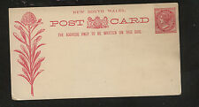New South Wales  postal card  Victoria   unused     MS0312