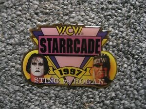 STING VS HULK HOGAN EVENT PPV PIN WCW STARRCADE 1997 WRESTLING WWE WWF NWO