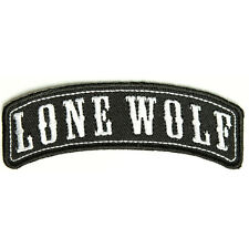 Embroidered Lone Wolf Rocker Sew or Iron on Patch Biker Patch
