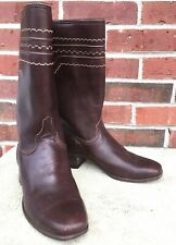 Womans Lucchese Leather Boots, Size 7 B  Brown Subtle Western, Cowboy style