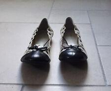 JONAK jolies ballerines compensées cuir pailleté noir pointure 41 TOUTES NEUVES | eBay
