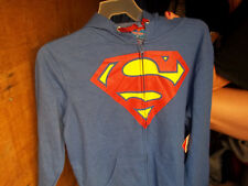 Blue zip up Superman hoodie size large