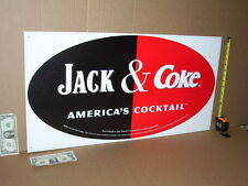 WHISKEY & COCA-COLA - Real Big OLD SIGN - ADVERTISES >BOTH< COKE & JACK DANIEL'S
