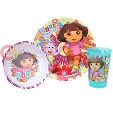 Dora The Explorer Dora with Boots 3pc Dinner Bowl Tumbler Dinnerware Set