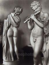 1947/80 Original FLUTE MUSIC SCULPTURE Silver Gelatin Photograph Art TIBOR HONTY