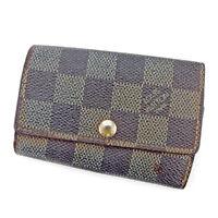 Louis Vuitton Key holder Key case Damier Woman unisex Authentic Used T4550
