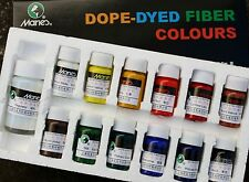 Dope-Dyed Fiber Colors / Fabric Dye Set-12 colors(10ml)+1 regulator(30ml)