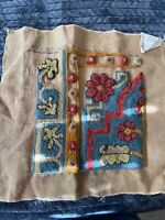 Charco Primitive Rug Hooking Pattern 'Khotan' by Jane McGown Flyyn on Burlap