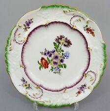 Samson Paris Zierteller, Blumen - Motiv, 19. Jahrhundert, Durchmesser 23 cm
