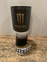 """NEW Grizzly Gear 32oz. Grip Cup Stainless Textured Steel """"MONSTER ENERGY"""" Custom"""