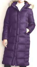EDDIE BAUER ESSENTIAL DUFFLE DOWN PARKA TRENCH COAT PURPLE PM M 650F ARCTIC COLD