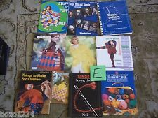 10 VINTAGE CRAFT HOBBY BOOKS KNITTING CROCHET SEWING CHILDREN TOYS QUILTING L@@K