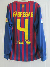 Barcelona 2011-2012 Fabregas 4 Home Football Shirt Long Sleeves Small /38020