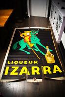 "IZARRA LIQUOR BY ZULLA 55""x78"" ft Advertise Poster Original 1934 USED"