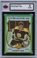 1973-74 Topps #150 Bobby Orr HOF Graded 8.0 NMM (*G2020-042)