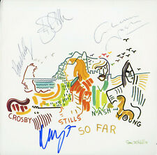 CSNY David Crosby Stephan Stills Nash & Neil Young SIGNED So Far!! RARE