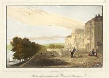 Wiesbaden-Castello Biebrich-Lemaitre-kolorierter ACCIAIO CHIAVE 1838