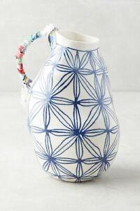 Anthropologie Vase ANNA WESTERLUND Star KERAMISK Abstract Cloth Stoneware NWT