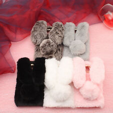 Faux Rabbit Fur Case TPU Phone Cover For Motorola Moto G5S G6 E4 Plus / Moto C