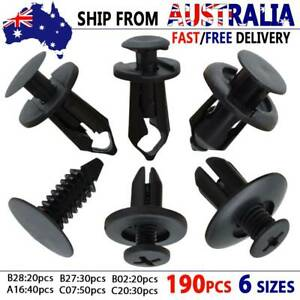190x Car Trim Body Clips Kit Rivets Retainer Moulding Clips Plastic Fastener
