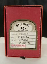 Vintage St Louis RX '76 Drug Package, Inc Record File ~Unique Decorative Storage