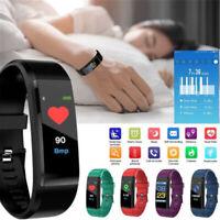 Sport Bluetooth Heart Rate Smart Bracelet Wristband Watch Blood Pressure Monitor