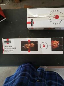 Nexgrill Universal Rotisserie Kit Can Handle Large Cuts Meat Cooking Accessory